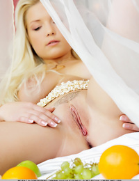 Melisa has bleached blonde hair, she has wide hips and a plump ass, her bigger breasts are begging to be squeezed.  - Melisa C - Riesling